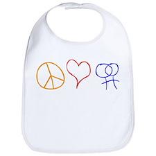 Peace Love & Dykes Bib
