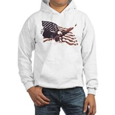 Cute American flag and eagle Hoodie