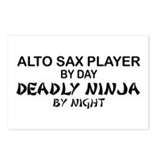 Alto Sax Deadly Ninja Postcards (Package of 8)