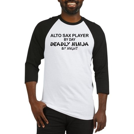 Alto Sax Deadly Ninja Baseball Jersey