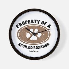 Property of A Boxador Wall Clock