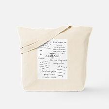 Carlisle Quotes Tote Bag