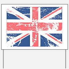 Worn and Vintage British Flag Yard Sign
