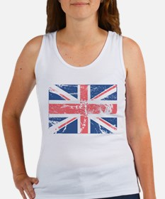 Worn and Vintage British Flag Women's Tank Top