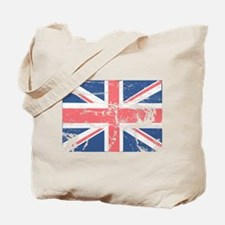 Worn and Vintage British Flag Tote Bag
