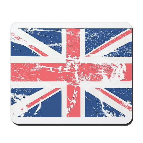 Worn and Vintage British Flag Mousepad