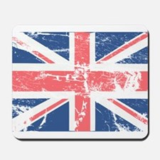 Worn and Vintage British Flag Mousepad