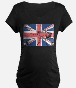 Worn and Vintage British Flag T-Shirt