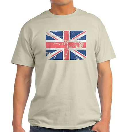 Worn and Vintage British Flag Light T-Shirt