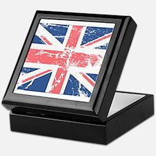 Worn and Vintage British Flag Keepsake Box
