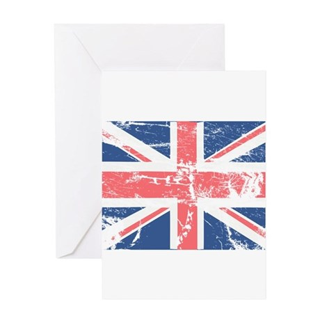Worn and Vintage British Flag Greeting Card