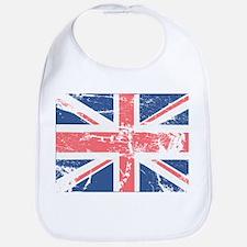 Worn and Vintage British Flag Bib