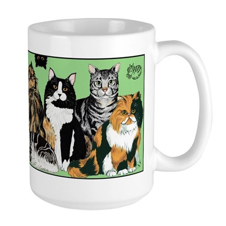 Cat Party Large Mug- 15oz