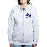 Dirty Blue Doggy Women's Zip Hoodie