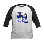 Dirty Blue Doggy Kids Baseball Jersey