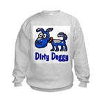 Dirty Blue Doggy Kids Sweatshirt