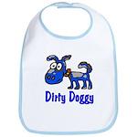 Dirty Blue Doggy Bib