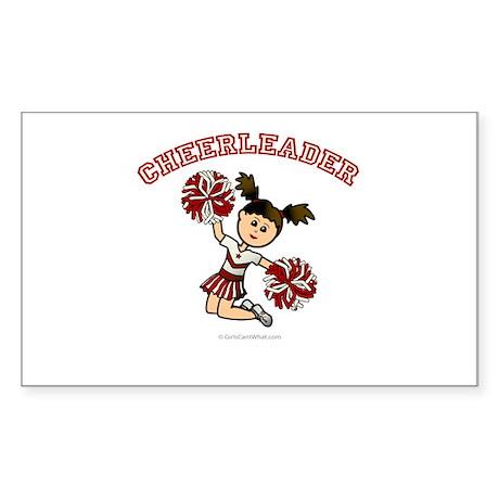 Cheerleader Rectangle Sticker