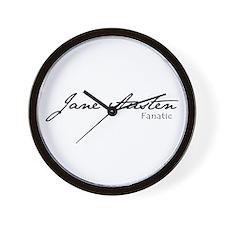 Jane Austen Fanatic Wall Clock