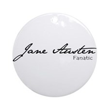 Jane Austen Fanatic Ornament (Round)