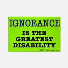 Ignorance is the greatest disability Rectangle Mag