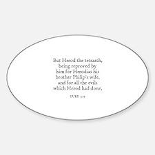 LUKE 3:19 Oval Decal