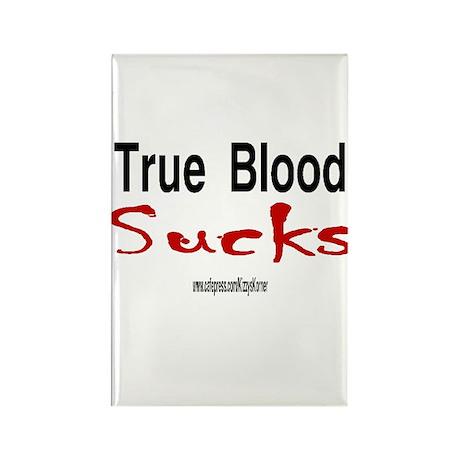 TRUE BLOOD SUCKS Rectangle Magnet