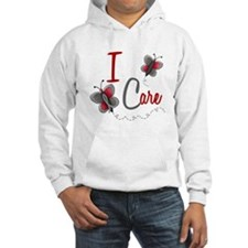 I Care 1 Butterfly 2 GREY Jumper Hoody