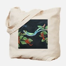 Leaping Frog with Dragon fly Tote Bag