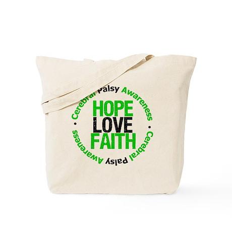 CerebralPalsyHopeLoveFaith Tote Bag