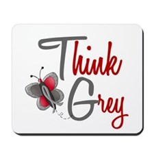 Think Grey 1 Butterfly 2 Mousepad