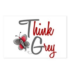 Think Grey 1 Butterfly 2 Postcards (Package of 8)