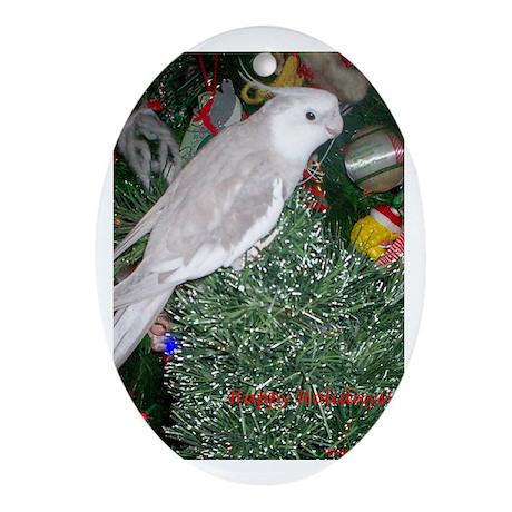 Skylar's Happy Holidays Oval Ornament