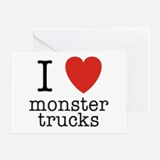 I Heart Monster Trucks Greeting Card
