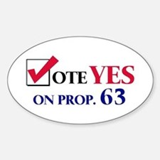 Vote YES on Prop 63 Oval Decal