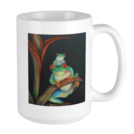 Red Eyed Tree Frog and Baby Large Mug