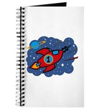 Rocket Ship 1st Birthday Journal