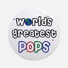 World's Greatest Pops Ornament (Round)