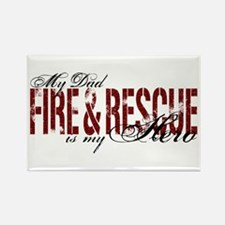 Dad My Hero - Fire & Rescue Rectangle Magnet