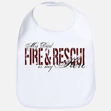 Dad My Hero - Fire & Rescue Bib