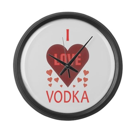 I Love Vodka Large Wall Clock