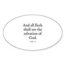 LUKE 3:6 Oval Decal