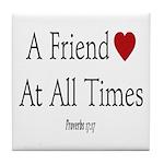 Proverbs Friends Tile Coaster