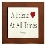 Proverbs Friends Framed Tile