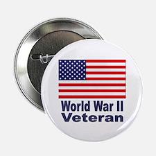 """World War II Veteran 2.25"""" Button (10 pack)"""