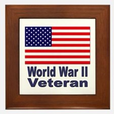 World War II Veteran Framed Tile