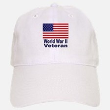 World War II Veteran Baseball Baseball Cap