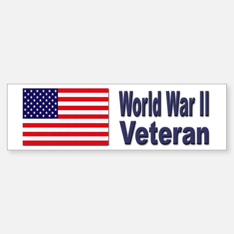 World War II Veteran Bumper Bumper Bumper Sticker