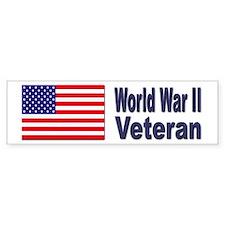 World War II Veteran Bumper Bumper Sticker