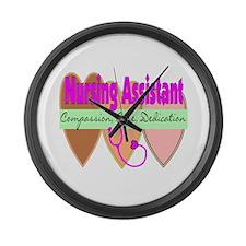 Nursing Assistant Large Wall Clock